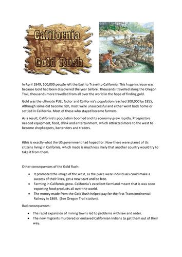The American West: Migration & Moving West (GCSE Edexcel 1-9)