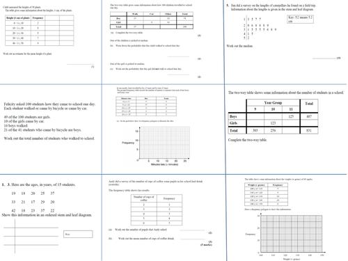 Data Handling Exam Questions