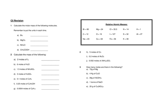 Adjectives Worksheets For Kids Edexcel  Ccc Moles Higher  Free Worksheet For The Lesson  Identifying Nouns Verbs And Adjectives In Sentences Worksheets with Second Grade Worksheets Free Excel Edexcel  Ccc Moles Higher  Free Worksheet For The Lesson Moles By  Rainyviolet  Teaching Resources  Tes Screenplay Analysis Worksheet Pdf