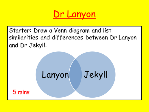 Jekyll and Hyde: Dr Lanyon revision