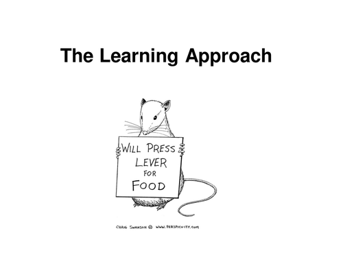 Edexcel Psychology learning approach new spec introduction to learning approach