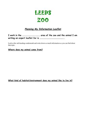 planning my information leaflet