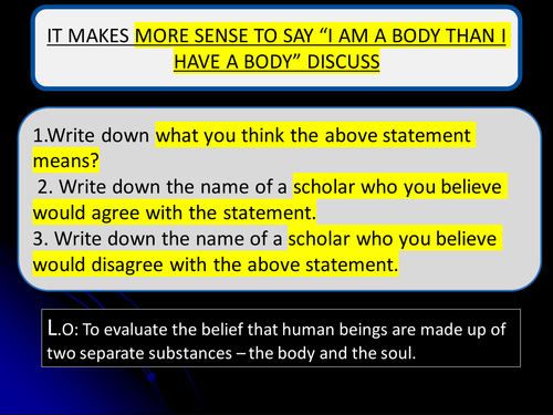 Theories of the mind body and soul evaluation.