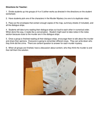Economics Murder Mystery for Classroom with Worksheet for Supply ...