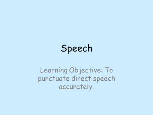 Punctuating direct speech
