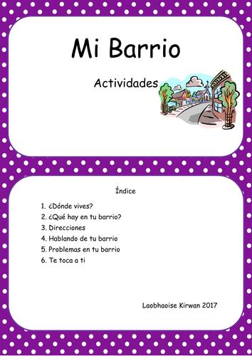 Mi Barrio Work Booklet
