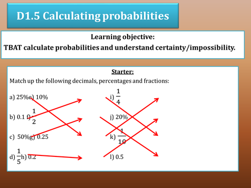 Calculating probabilities