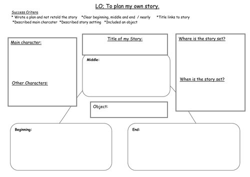 SMART notebook - Planning a story Year 1  KS1