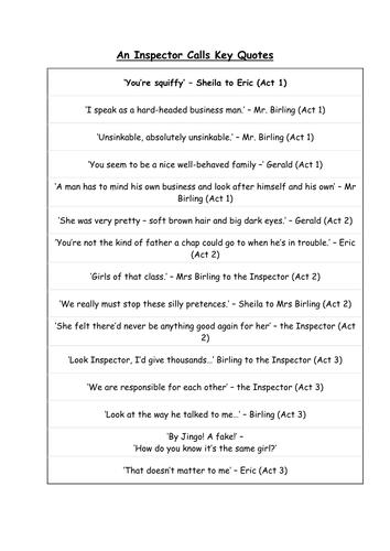 eva smith letter essay