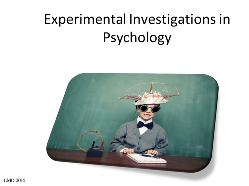 Introduction to the experimental method plus laboratory experiment