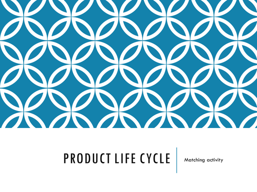 Product Life Cycle Matching Activity