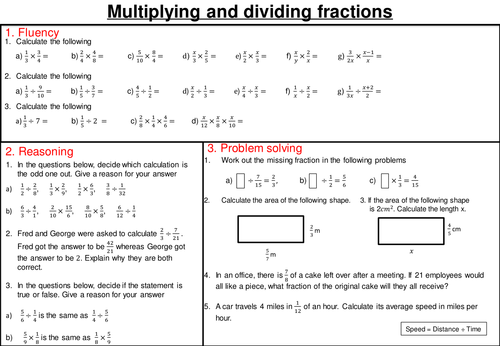 Fractions mastery worksheets by joybooth Teaching Resources Tes – Worksheet on Dividing Fractions