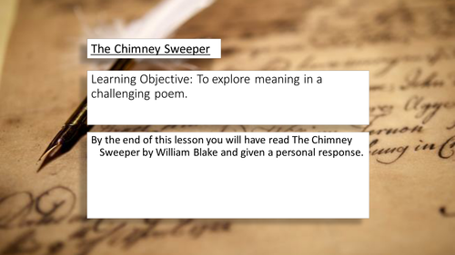 The Chimney Sweeper - An Introduction
