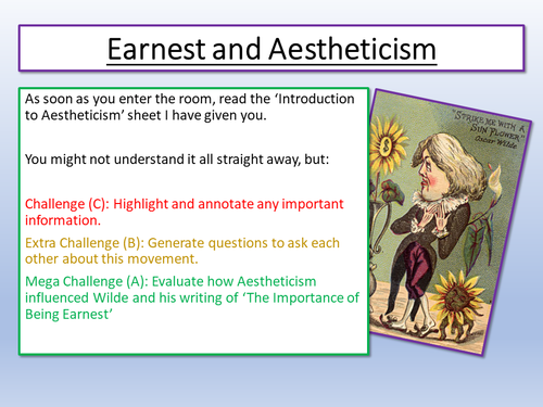 an introduction to the importance of being earnest Introduction to literature search for: oscar wilde, the importance of being earnest, 1895 the importance of being earnest.