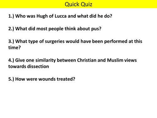 AQA (9-1) GCSE History - Health and the People - Lesson 6-7 (Public Health)