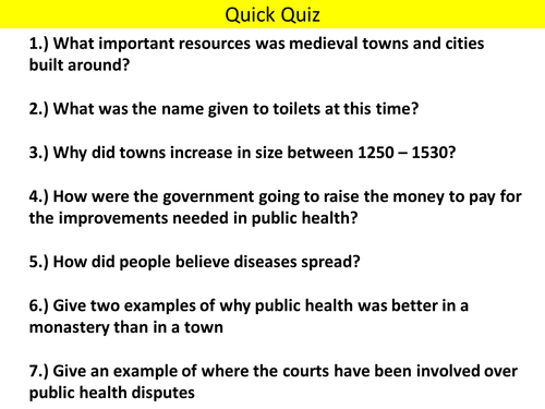 AQA (9-1) GCSE History - Health and the People - Lesson 8 (Black Death)