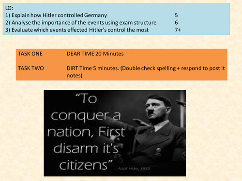 GCSE History  Germany 1918-39 12 point Explain Question structure