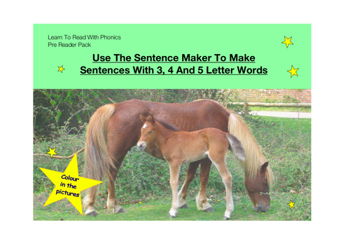 Pack 24 Use The Sentence Maker To Make Sentences With 3 4 And 5