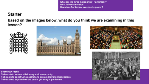 An Introduction to Parliament for AQA Citizenship Studies