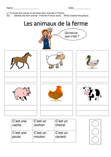Latitude And Longitude For Kids Worksheet Word French Farm Animals By Missa  Teaching Resources  Tes 7th Grade Math Worksheets Integers with Holt Geometry Worksheet Answers Excel  Adding Fractions With Like Denominators Worksheets Excel