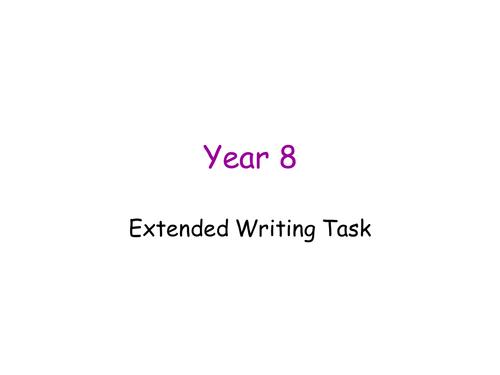 Year 8/9 Extended Writing Assessment Task
