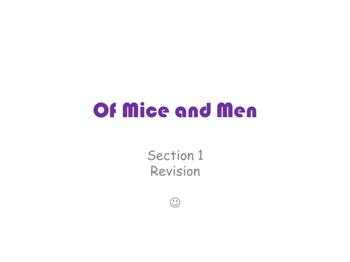 Of Mice and Men Chapter 1 Analysis
