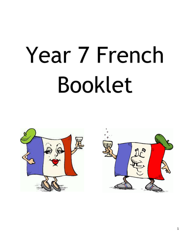 French Vocabulary Revision and Practice- EASY- Year 7 topics