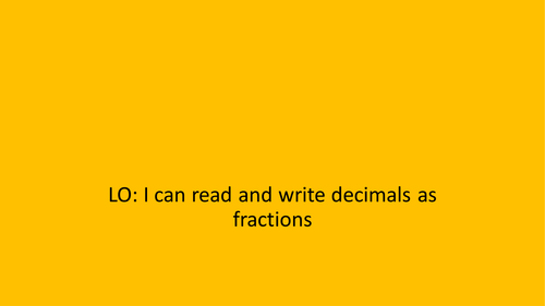 Fractions and Decimals Conversion
