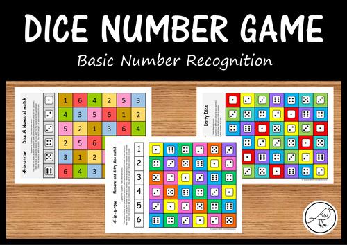 Dice Number Games - Basic number recognition