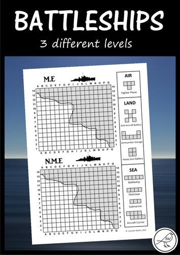 Battleships Game - 3 different levels