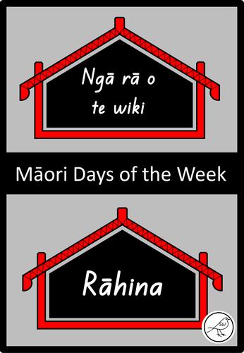 Māori Days of the Week  -  Display cards