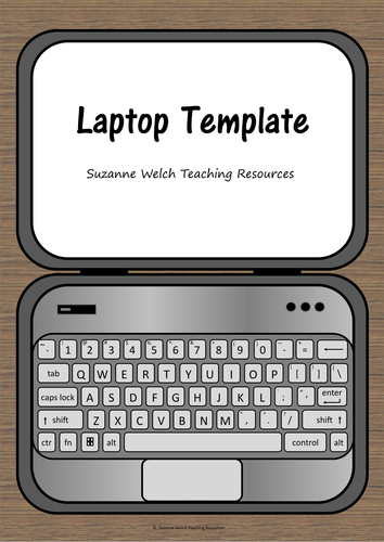 Laptop Template - for wall display