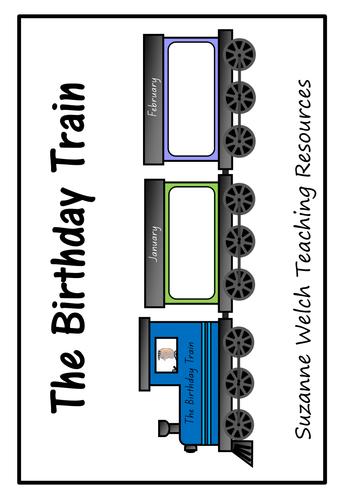 Birthday Train - wall display