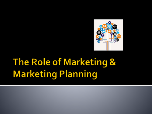 The role of Marketing Planning