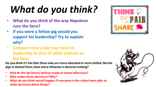 Animal Farm - chapter 7 - new specification 9-1 English literature fully differentiated