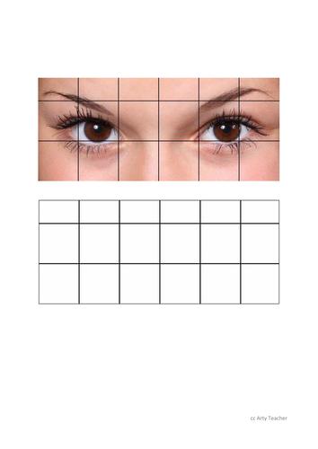 Eye Grid Drawing #1