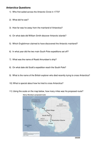 Antarctica - Discovery and Ownership KS3 Double Lesson