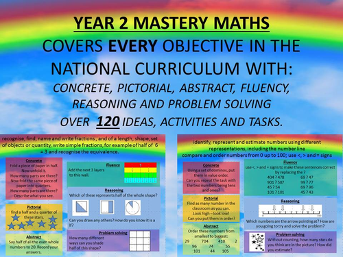 YEAR 2,3,4,5,6 MASTERY MATHS COVERS EVERY OBJECTIVE IN THE NATIONAL ...