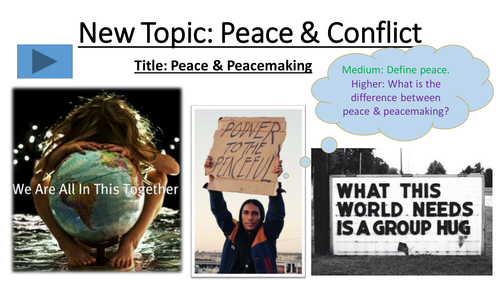 4.1 Peace - Peace and Conflict - New Edexcel Islam