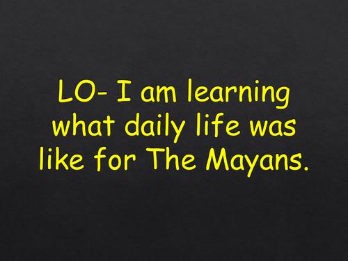 Mayan daily life