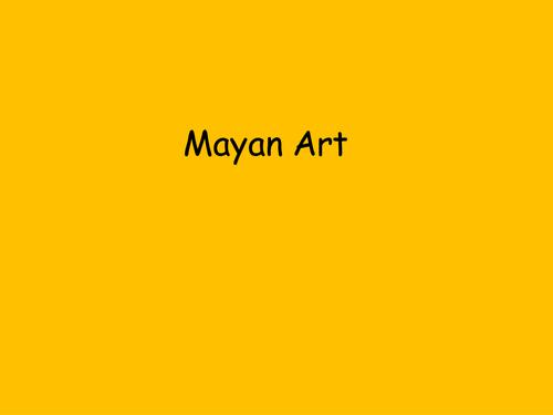 Mayan art- murals