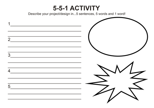 5-5-1 Activity General Design Technology Starter Plenary Mini Evaluation Self Assessment