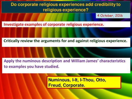Corporate Religious Experiences