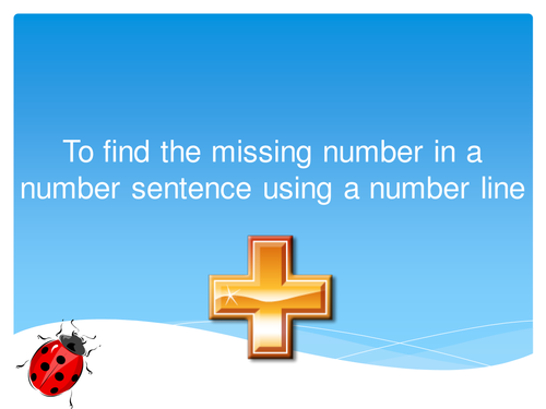 Missing Number Addition using a number line