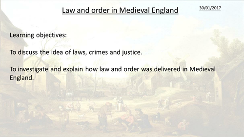 Medieval law and order