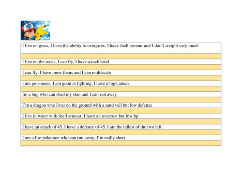 Pokemon Database Lesson