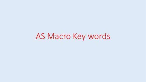 Economics AS Macro Key Term cards