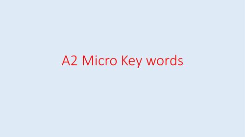 Economics A2 Micro Key Term cards