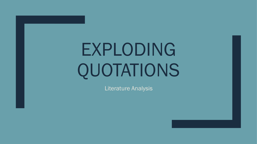 Exploding Quotations