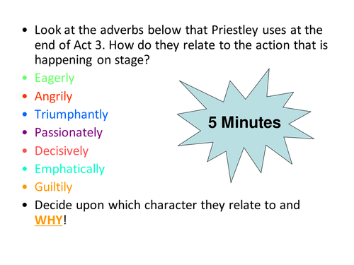 An Inspector Calls End of Act 3 GCSE ENGLISH LITERATURE NEW 1-9 SPEC